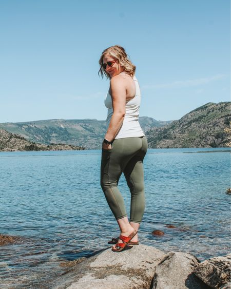 Fabletics, athleisure, workout clothes, adventure, outdoor, footbed sandals, pocket leggings, Olive green Jeggings, power hold leggings.   http://liketk.it/2UCZB #liketkit #LTKfit #LTKstyletip #LTKunder100 @liketoknow.it