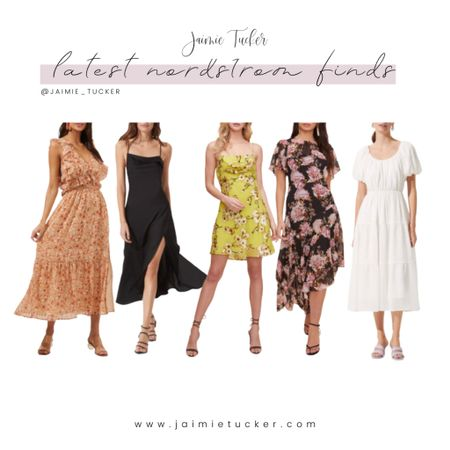 Latest Nordstrom Finds. Check out some of these gorgeous summer dresses! | #FounditonNordstrom #NordstromFinds #Nordstromdresses #springdresses #summerdresses #vacationoutfits #slipdress #floraldress #summeroutfits #JaimieTucker  #LTKstyletip #LTKSeasonal #LTKwedding