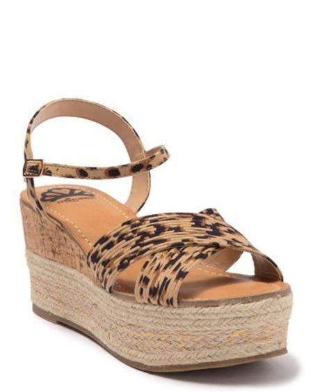 Leopard wedge sandal/ fergalicious / summer sandals / wedge heels http://liketk.it/2R90j #liketkit @liketoknow.it #LTKshoecrush #LTKsalealert #LTKunder50