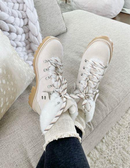 S H O E S \ $26 winter white boots👌🏻  #walmart #walmartfashion #walmartfind #boots #booties #hikerboots  #LTKunder50 #LTKSeasonal #LTKshoecrush