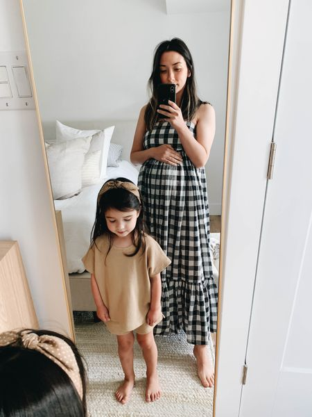 Maternity outfit inspiration. The Great gingham dress   Dress - The Great 0   #LTKbump