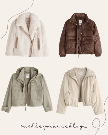 Abercrombie and Fitch puffer jacket. Sherpa jacket. Fall jackets. Winter jackets and coats. Vegan leather coat.   #LTKSeasonal #LTKSale #LTKHoliday