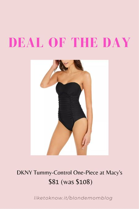 Trust me this style swimsuit is pretty much universally flattering on all body types! Very slimming style and a classic. 🌞🏖  #swim #swimwear #onepiece #bathingsuit #fashionafter40 #fashionafter50 #dkny #macys #beach #pool #tummycontrol  #LTKSeasonal #LTKunder100 #LTKtravel