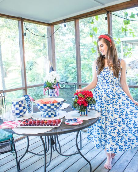 It's almost 4th of July weekend! 🇺🇸❤️🤍💙 Today on my blog, I'm sharing our patriotic tablescape with my new @mackenziechild Royal Check pieces and how I styled this @chicwish dress for the 4th. The dress runs true to size and is nursing friendly. [gifted] http://liketk.it/3iRcM #liketkit @liketoknow.it #LTKbaby #LTKfamily #LTKhome @liketoknow.it.home @liketoknow.it.family