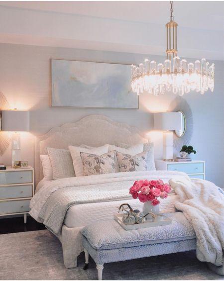 Bedroom furniture, bedding, and decor Home decor, chandelier, lamps   #LTKhome