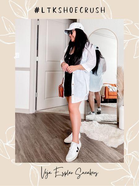 Blogger-fave Veja Esplar Sneakers! So comfy! Definitely worth the 🤑! If you're in between sizes, get half size down. http://liketk.it/3gR3T @liketoknow.it #liketkit 😍    #LTKSeasonal #LTKshoecrush #LTKstyletip
