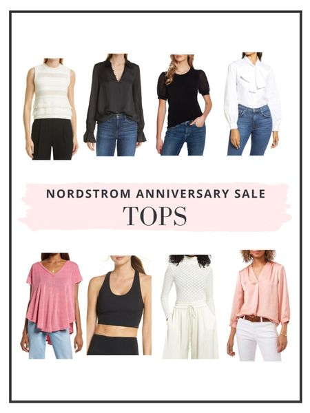 The Nordstrom Anniversary Sale is now open to everyone! Here are our top picks for tops and shirts!   #LTKunder100 #LTKsalealert #LTKunder50