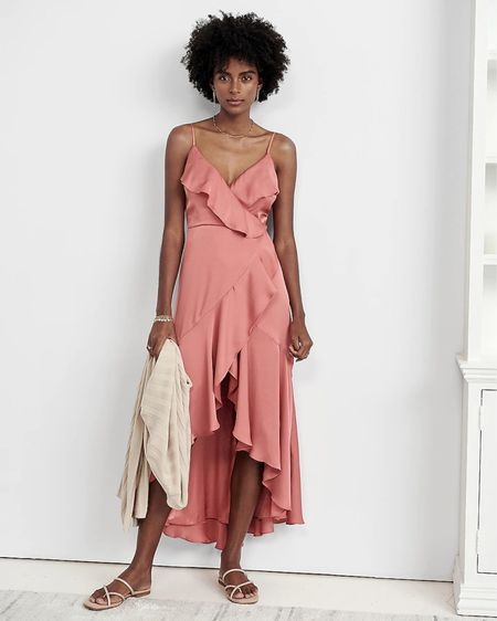 Satin high low spaghetti strap dress— beautiful for your engagement session or to wear as a wedding guest   #LTKunder100 #LTKwedding #LTKDay http://liketk.it/3gkA6 #liketkit @liketoknow.it  Tags: engagement session dress, wedding guest dress, satin dress