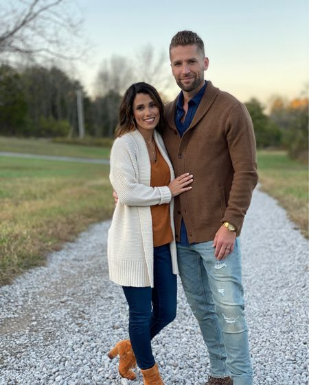 """Here we are! My sweet guy and I! We've been through a lot and yet he still loves me ;). He dotes on me, and I roll my eyes.  I pester him till he cracks that smile. I've been thinking a lot lately that it's easy to focus on what we don't have in marriage when we really need to focus on what good we do have. It's so easy to get caught up in saying """"he never"""" """"she never"""". Instead of shifting our minds to think on what good they do bring us. Thanks babe for being my partner. We are embarking into what may be a new adventure for us, and I wouldn't want anyone else by my side.  . . Also our outfits are Iinked in l @liketoknow.it . There's nothing Richard would like more than to have his clothes linked! Would you ladies like to shop for your men affordable and stylishly? Think @sisterstudioblog but for men? http://liketk.it/2GleA #liketkit"""