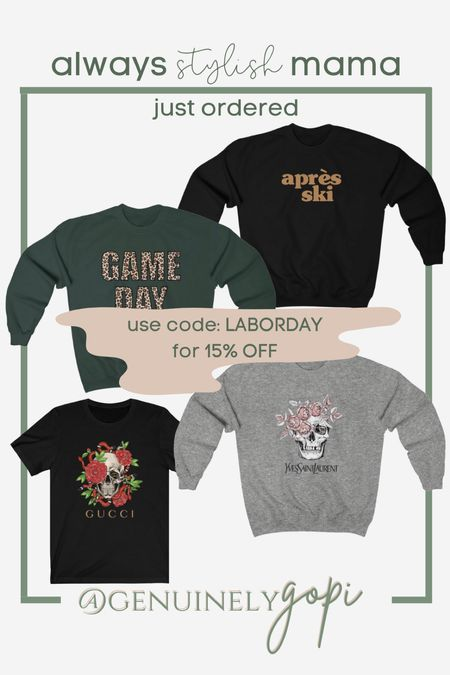 so excited to get these from ASM! use code 'LABORDAY' for 15% off your entire order!   designer inspired is only around for a limited time y'all, and they're selling out FAST - so get your hands on them while you can!   #alwaysstylishmama #designerinspired #gameday #apresski #gucci #ysl   #LTKunder50 #LTKSeasonal #LTKsalealert