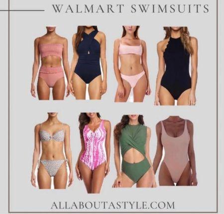 Walmart Swimsuits. Super cute swimsuits got your next beach vacation. #swimsuits #bathingsuits #summer #walmart @liketoknow.it #liketkit (enableimagetoviewlink)   #LTKswim #LTKSeasonal #LTKstyletip