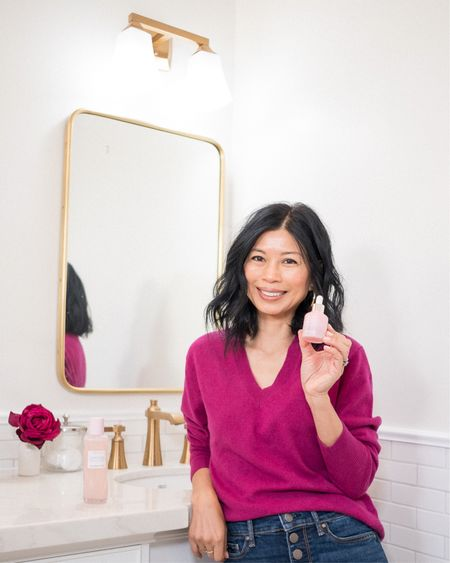I've been meaning to share this with you… I recently discovered @glowrecipe at #SephoraInJCP.  Their natural, fruit-powered skincare essentials are clean,  cruelty-free and free of parabens, sulfates, and phthalates.   I love their Watermelon Glow PHA+BHA Pore-Tight Toner so much because it leaves my skin so dewy and hydrated that I just placed an order for their Watermelon Glow Niacinamide Dew Drops and can't wait to share  my review with you. I'm also a big fan of @laneiege_us and absolutely love their Lip Sleeping Mask so I decided to try their makeup primer, Glowy Makeup Serum.  Sometimes I just wear this without my makeup and love that inner glow it gives to my skin.  #glowrecipe  #glowwithlaneige  You can instantly shop my skincare regimen by following me on the LiketoKnow.it shopping app @liketoknow.it http://liketk.it/35lnC #liketkit   #LTKunder50 #LTKbeauty #StayHomeWithLTK