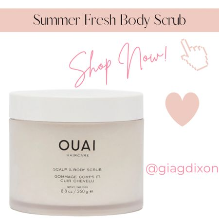 Summer fresh scrubs for your Body ody ody ody ody ody ody  If we could list the endless visualizations that come to mind when it comes to a fabulous summer body it would simply come down to being: 1.Hydrated 2.Silky smooth 3.Glowing - maybe even tan 4.Relaxed from summer vacation   #LTKSeasonal #LTKbeauty #LTKunder50
