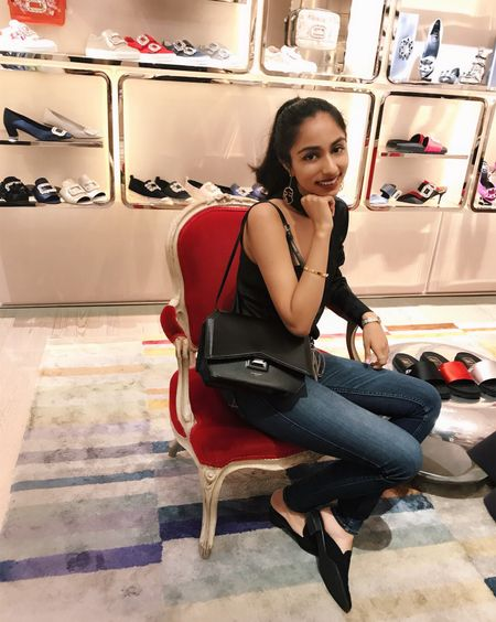 Leave a girl in her favorite sparkly shoe store and she'll grin cheek to cheek 😊👠✨ #vivier #rogervivier #luxuryfashion #givenchybag #walterbaker #blackanddenim #blacktop #givenchy #charlesdavidshoes #charlesdavis #lovevivier #liketkit @liketoknow.it http://liketk.it/2wf6H