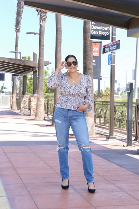 Fall date night outfit with jeans, ripped straight leg jeans, happy hour outfit, drinks with the girls outfit  #LTKSale #LTKcurves #LTKDay