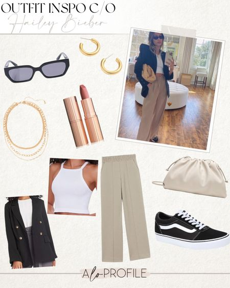 Hailey Bieber, summer outfit, outfit inspo, edgy style, summer style   #LTKstyletip #LTKunder50