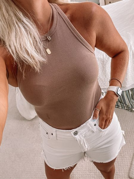 Abercrombie tank, white shorts http://liketk.it/3jX5K #liketkit @liketoknow.it