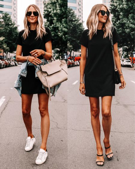 This little black dress is so versatile for summer (tts / xs). Pair it with sneakers or heeled sandals! #goldengoosesneakers #nsale #nordstromsale #sandals #summerdress #dresses #blackdress http://liketk.it/3hjlU #liketkit @liketoknow.it #LTKunder100 #LTKunder50 #LTKsalealert