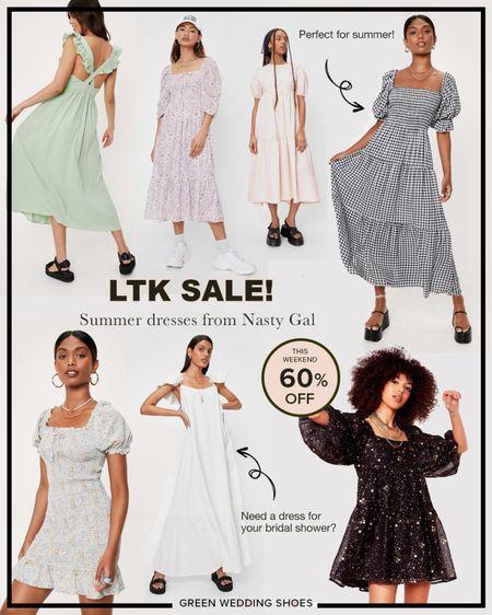 Nasty gal summer dresses on sale for 60% off this weekend!!! #LTKsalealert http://liketk.it/3huj8 #liketkit @liketoknow.it