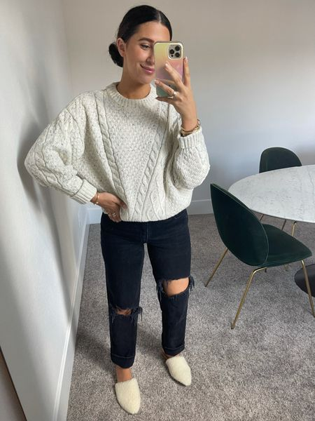 Such a good Walmart find!! This sweater is such good quality $28 & looks like madewell   #LTKstyletip #LTKunder50 #LTKSeasonal