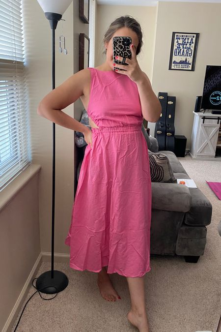 Love this dress for a summer wedding! Light weight and true to size. Comes in so many colors! Wedding guest dresses. Summer dresses. http://liketk.it/3hLQ5 #liketkit @liketoknow.it #LTKwedding #LTKunder100 #LTKstyletip