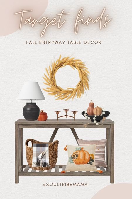 Styled a entryway table for fall with my target finds🍁♥️  #LTKhome #LTKHoliday #LTKSeasonal