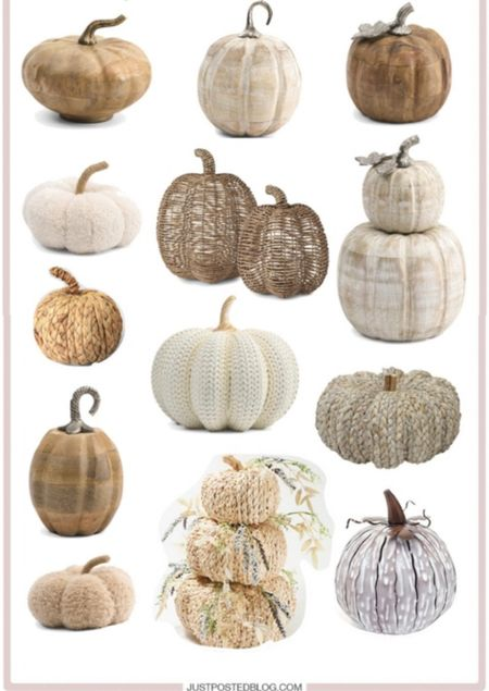 Perfect neutral toned pumpkins   Fall Decor Pumpkin  Seasonal   #LTKhome #LTKHoliday #LTKSeasonal
