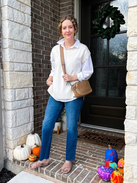 My new go-to outfit! These jeans are AMAZING and under $50 (wearing a size 6).   #LTKunder100 #LTKstyletip #LTKunder50