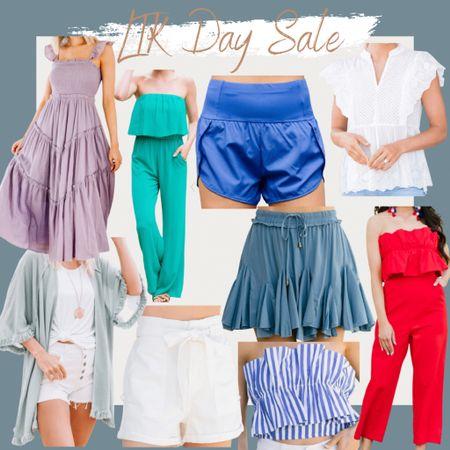 http://liketk.it/3gYlV #liketkit @liketoknow.it #LTKDay #LTKsalealert wedding guest dress, summer outfit, summer style, vacation outfit, jumpsuit, athletic shorts, kimono, eyelet top, crop top, paper bag shorts, eyelet blouse, smocked midi dress, red ruffled jumpsuit, strapless jumpsuit, ruffled tank, ruffled skort