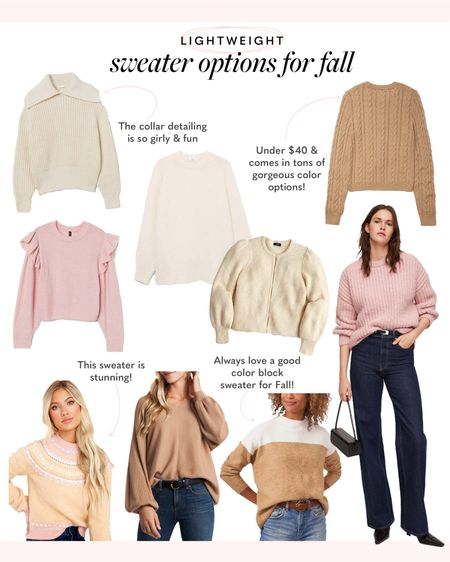 Lightweight sweaters for cooler weather, Fall & Autumn sweaters for every style   #LTKstyletip #LTKeurope #LTKSeasonal