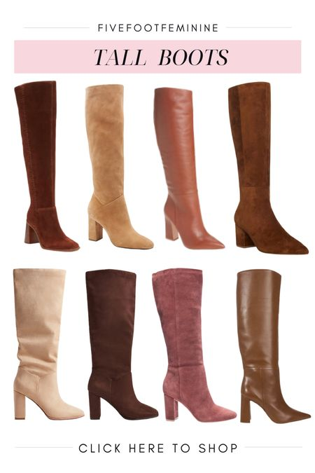 Tall brown boots for all your fall outfits   #LTKunder100 #LTKshoecrush #LTKSeasonal