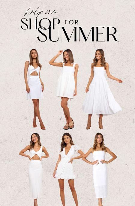 White dresses for summer ☀️ DANIELLEG15 for 15% off  Bachelorette dresses, white dress, summer dress