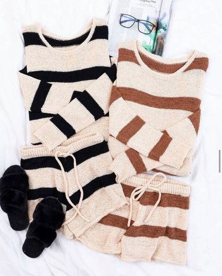 Two piece sets, matching sets, fall outfits, fall clothing, lounge wear, lounge clothing, matching sets, sweaters, cozy clothing, fall cozy, fall outfit inspo, lounge   #LTKstyletip #LTKunder100 #LTKsalealert