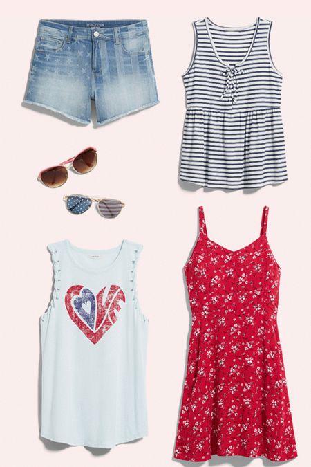 Festive Summer looks! Shorts, capris, and jeans, combined with light tanks and shades http://liketk.it/3iSgK #liketkit @liketoknow.it #LTKsalealert #LTKunder50 #LTKunder100