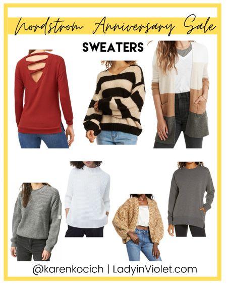 Nordstrom Anniversary sale / nsale / sweaters / cardigans    #LTKsalealert #LTKunder100 #LTKunder50