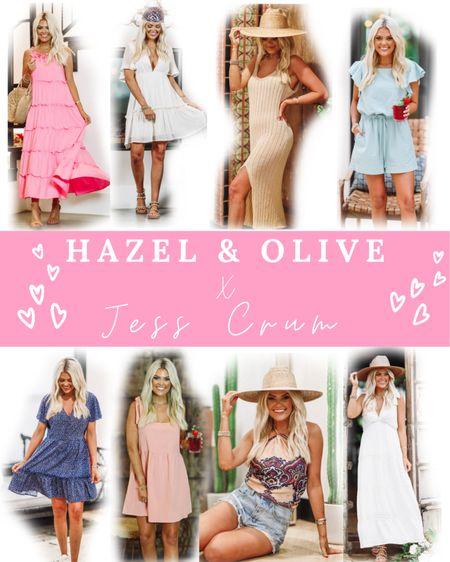 Hazel & Olive X Jess Crum 💗 . . .  http://liketk.it/3h7aY #liketkit @liketoknow.it #LTKstyletip #LTKunder50 #LTKunder100 dress, summer dress, white dress, pink dress, scarf top