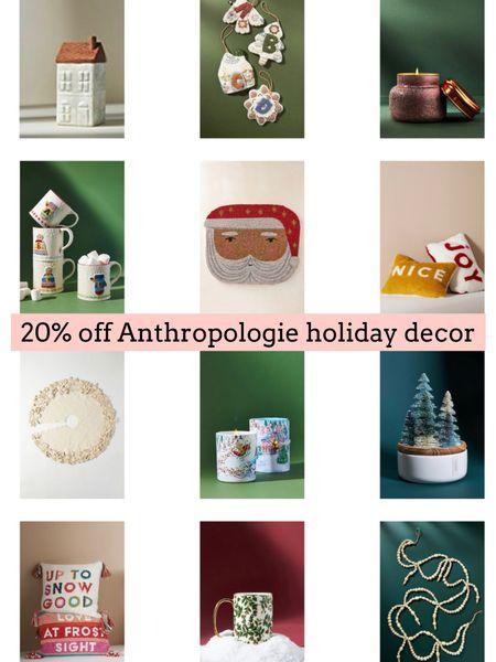 Anthropologie holiday decor on sale   #LTKSeasonal #LTKsalealert #LTKHoliday