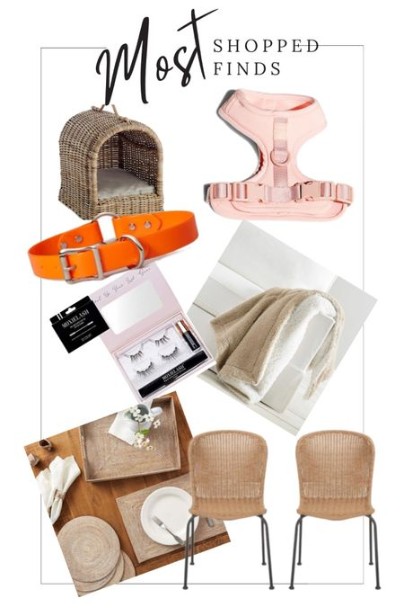 Most Loved June List. Dog Mom Favorite Finds. Wild One Harness in Pink. Pottery Barn Rattan Placemats. Pottery Barn Throw Blanket. Pottery Barn Rattan Pet Canopy. Wicker Patio Chairs for Small Spaces. MoxieLash Magnetic Lashes. Orange Webbing Dog Collar From Nordstrom.  Shop this pic below. Follow @lindseyandcoco on @liketoknow.it to never miss a deal or a sale. So glad you are here💕  http://liketk.it/3iMRp #liketkit #LTKbeauty #LTKhome #LTKstyletip @liketoknow.it.home