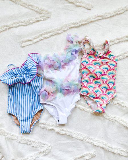 Girls swimsuits, one peice swim for girls, girl mom, j crew factory, unicorn swim, rainbow swim, striped swim, Nordstrom, http://liketk.it/3aRyR #liketkit @liketoknow.it #LTKSpringSale #LTKsalealert #LTKkids