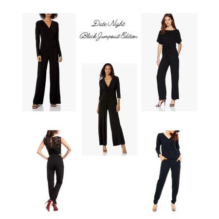 Black jumpsuits for date night. Some of the jumpsuits can be worn casually with flats or sneakers, while the others can be styled more elegantly with high heels and special occasion jewelry. http://liketk.it/3fOhn #liketkit @liketoknow.it #LTKunder100 #LTKstyletip You can instantly shop my looks by following me on the LIKEtoKNOW.it shopping app