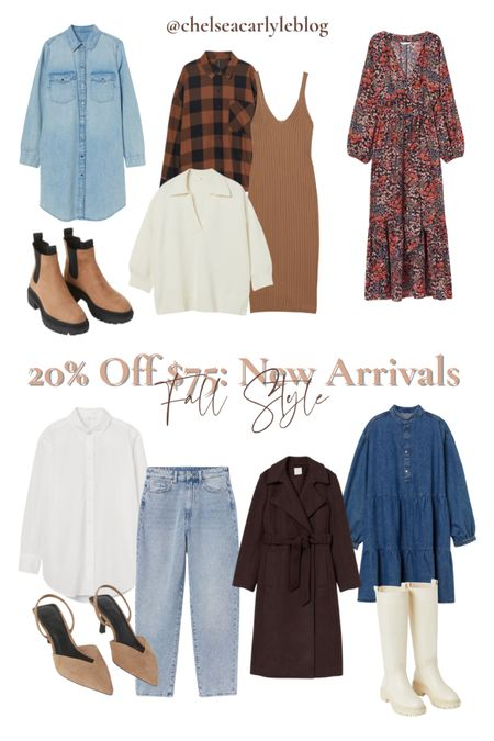 Shop fall style must-haves on sale! 20% off $75 + free shipping with code 4763  I rounded up my favorite finds on sale - from fall sweaters to mom jeans to denim shirt dresses and must-have fall boots.  | fall outfit | outfit inspiration | affordable style | affordable oufits | affordable denim | jeans | denim dress | fall dress | fall wedding guest dress | trench coat | coat | jacket | neutral style | sweaters | knits | boots | Chelsea boots | button down | fall layers | hm | h&m |    #LTKsalealert #LTKSeasonal #LTKunder50