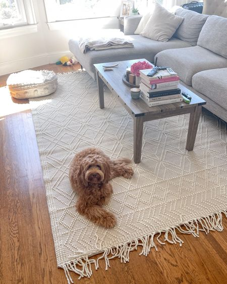 We have the 8x10 size rug and rug pad underneath (8x10 rectangle) http://liketk.it/3hiCs #liketkit @liketoknow.it