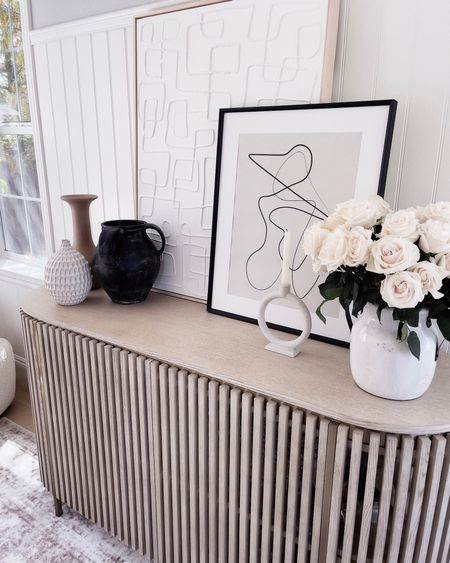 Console table, entryway console, neutral home decor, vases, StylinAylinHome   #LTKhome #LTKunder100 #LTKstyletip