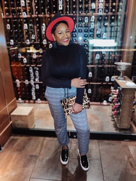 Bring in the new year with style! This entire outfit is from Target (minus hat which an Amazon find and clutch). I grabbed these pants size L turtle neck XL. They're both super comfy stretchy. Shoes are a 9. Casual chic for girls night out, date night, birthday, fall wedding. It just proves that you can be comfortable & still cute!  #LTKstyletip #LTKunder50 #LTKNewYear