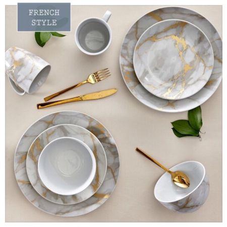 The luxurious dinnerware set for everyday. On sale now. #frenchstyle #LTKsalealert #LTKhome @liketoknow.it.home @liketoknow.it.family http://liketk.it/3agXg #liketkit @liketoknow.it
