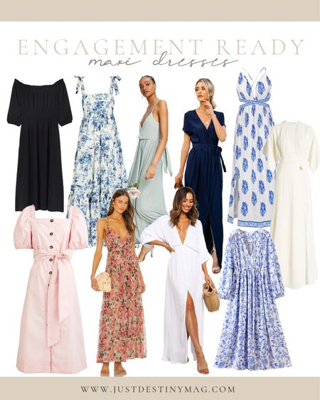 Elegant maxi dresses perfect for end of summer engagement photos.  These are a few of my favorites.    #summer #elegant #maxidresses #floral #weddingguest #nightout #datenight #fall #engagement #pictures  #LTKstyletip #LTKwedding