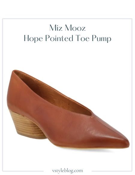 Work wear, Teacher outfits, Fall outfits, Fall shoes, Brown pumps, Sale alert  Miz Mooz Hope Pointed Toe Pump @ Nordstrom ($139.95) @ Amazon ($139.95) @ Zappos ($139.95) @ ShoeMall ($139.95, but 25% off + free shipping with code: SMTAKE25)  #LTKsalealert #LTKshoecrush #LTKworkwear
