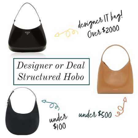 Structured hobos are hot this year 🙌🔥🍁 I've hand selected three fabulous structured hobos in three price ranges. Under $100, under $500 and the designer IT bag always out of stock, over $1000 💃🏻  #LTKitbag #LTKstyletip #LTKunder100