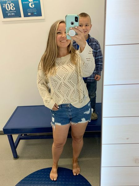 Obsessed with this summer sweater. It comes in several colors but I'm loving this oatmeal color (called wish bone). Grab one while it's on sale. These shorts are perfection too!  Summer Outfit : Beach Vacation : Women's Top      #LTKstyletip #LTKsalealert #LTKunder50