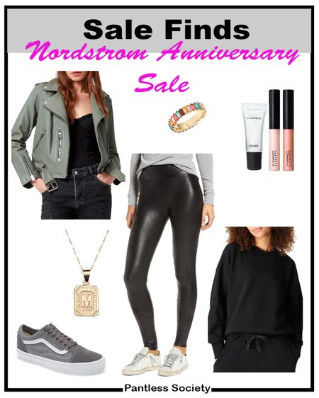 Nordstrom Anniversary Sale. Leather jacket. Mix high low. Fall outfit. Every day outfit. Hoop earrings. Nordstrom Sale. NSale. Casual shoes. Sneakers. Fall shoes. Date night outfit. Girl's night out.   #LTKbeauty #LTKsalealert #LTKshoecrush